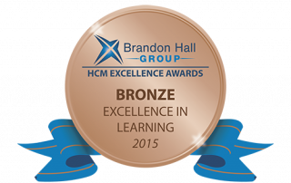 Brandon Hall Group Bronze Award 2015