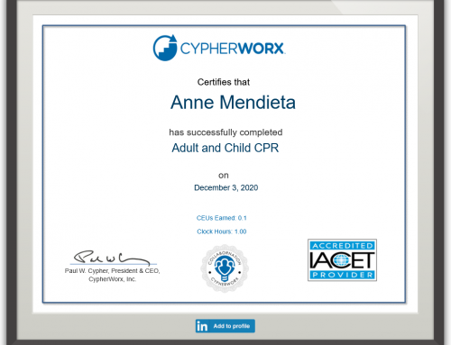 New certificates for courses that award CEUs