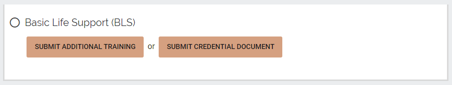 Submit records for credentials