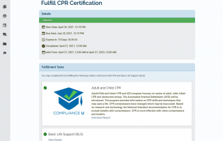 Fulfill credential requirements