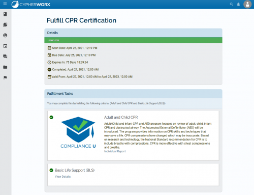 Manage training requirements with Credentials